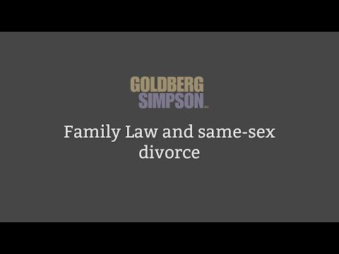 Family Law and same-sex divorce