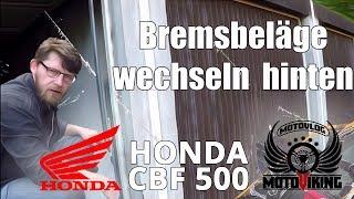 [CBF 500] Bremsbeläge wechseln hinten