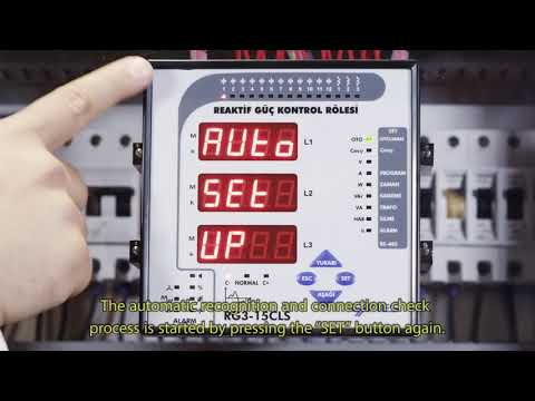 RG3-15 CLS Power Factor Controller Connection Check and Measuring the Capacitor Powers