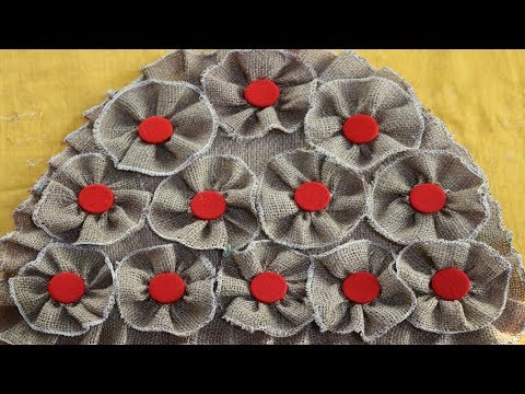 WOW! UNIQUE Design Doormats | How To Make Doormats Using Clothes & Jute Rug -DIY Doormat Making Idea