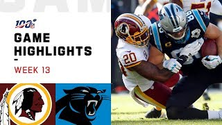 Redskins vs. Panthers Week 13 Highlights | NFL 2019