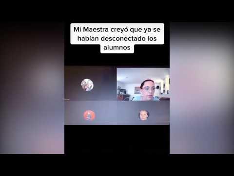 VIDEO | Profesora dejó micrófono abierto y estudiantes escucharon cuando los insultó