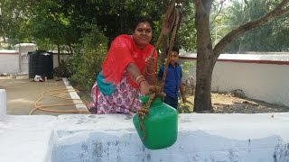 Olden Way of Taking Water from Well in My Village by  My Wife