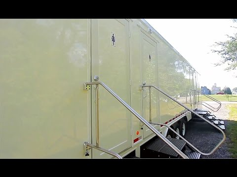 Portable Restrooms Trailer | Portable Restrooms For Sale | Executive Classic Series 14 Station