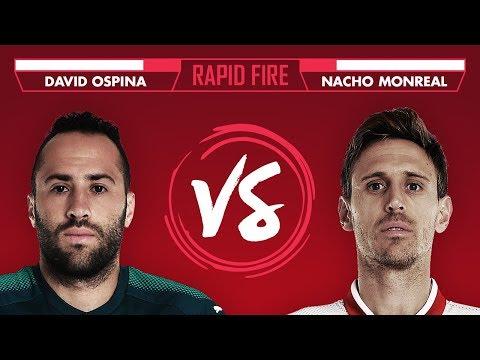 BUFFON, BASKETBALL & SHAVING YOUR HEAD?! | Ospina v Monreal - Rapid Fire
