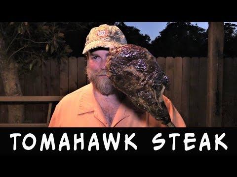 Tomahawk Steak on Santa Maria Grill