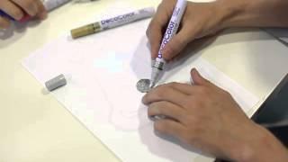 UCHIDA 油漆筆300  使用教學