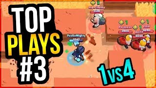 BEST Brawl Stars Plays & Beating Teamers Montage! Top Play Review #3