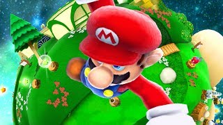 Giant Mario destroys Super Mario Galaxy 2
