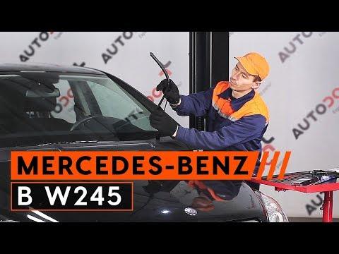 Mercedes B Class windshield wiper and cigarette lighter