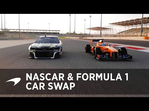 Jimmie Johnson and Fernando Alonso car swap