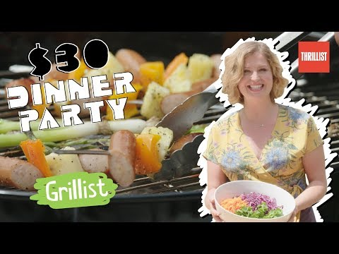 Delicious Grilled Pork Kebabs and Watermelon    $30 Dinner Party