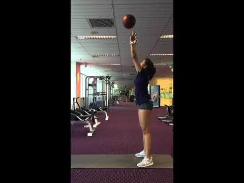 Medicine ball squat and throw