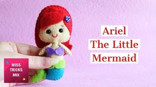 Ariel The Little Mermaid Felt Doll.