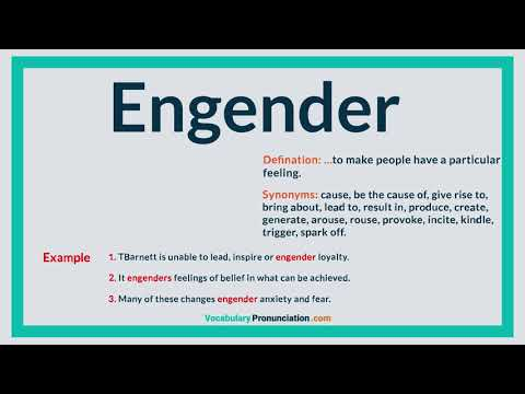 How to Pronounce ENGENDER l Definition, meaning, example and