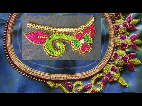 Blouse Design With French Knots |Aari Maggam Works |#52