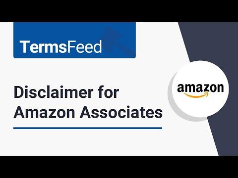 Disclaimer for Amazon Associates affiliate program
