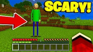BALDIS BASICS in Minecraft Pocket Edition! (Scary Minecraft Video)