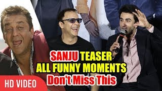 Back to Back Funny Moments   Ranbir Kapoor, And Team   Sanju Official Teaser Launch
