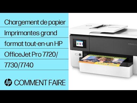 Chargement de papier | Imprimantes grand format tout-en-un HP OfficeJet Pro 7720/7730/7740 | HP