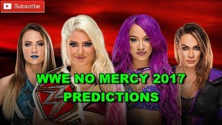 WWE No Mercy 2017 Raw Women's Championship Alexa Bliss vs Sasha Banks vs Nia Jax vs. Emma WWE 2K17