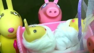 Мультфильм игрушками Свинка Пиги Pig Малыш кролик