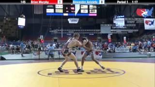 Fargo 2012 145 Round 5: Brian Murphy (Illinois) vs. Alexander Aniciete (Nevada)