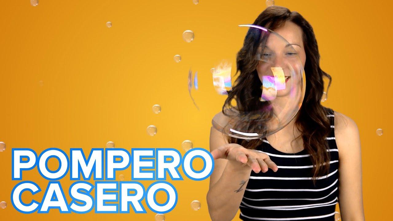 Pompero casero para hacer burbujas gigantes. Manualidades de reciclaje