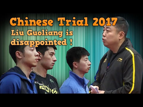Liu Guoliang gives comments in Chinese Trials 2017 for WTTC Table Tennis