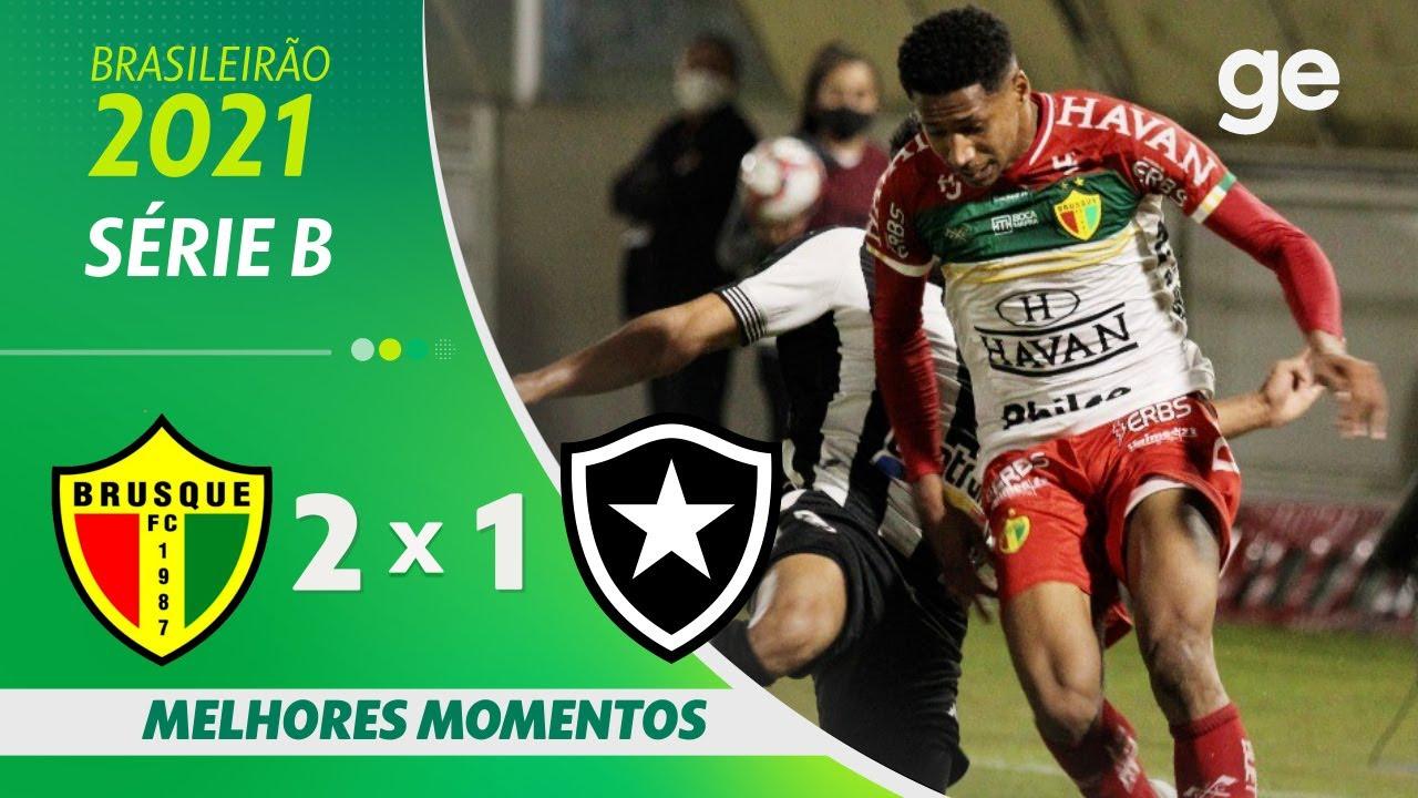 VÍDEO | Gols e melhores momentos de Brusque 2×1 Botafogo pela 12ª rodada da Série B