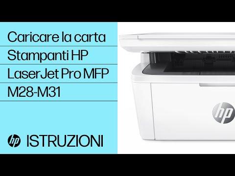 Come caricare la carta nelle stampanti HP LaserJet Pro MFP M28-M31