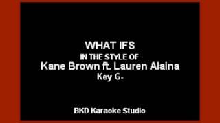 Kane Brown   What Ifs (ft. Lauren Alaina) (Karaoke Version)