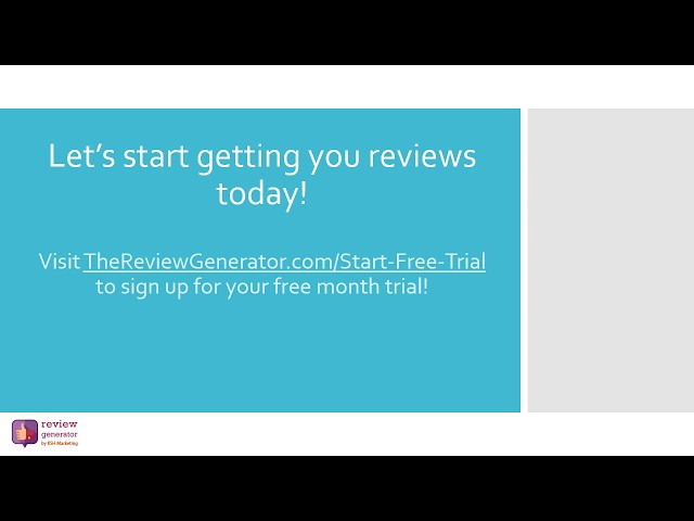 The Review Generator Pricing, Features & Reviews 2019 - Free