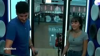 Cepeda y Aitana ensayo en el box No Puedo Vivir sin Ti