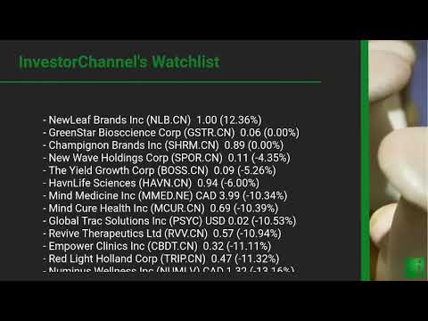 InvestorChannel's Psychedelics Watchlist Update for Wednes ... Thumbnail