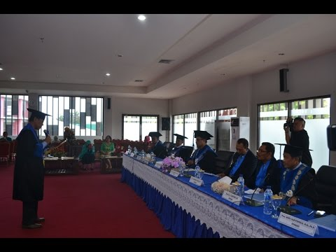 Dok Humas Untad,  Ujian Promosi Prog. Doktor Universitas Tadulako . Dr. Johanis  Panggeso  Disk 2 .mpg