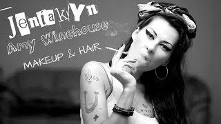 Смотреть онлайн Макияж и прическа Amy Winehouse