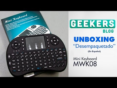 Mini Keyboard Rii i8+ MWK08 - Unboxing en Español