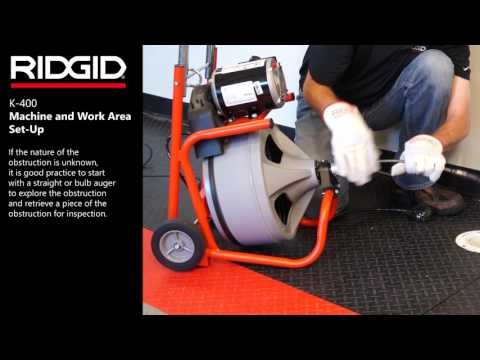 RIDGID K-400 Drum Machine – Machine and Work Area Set-Up