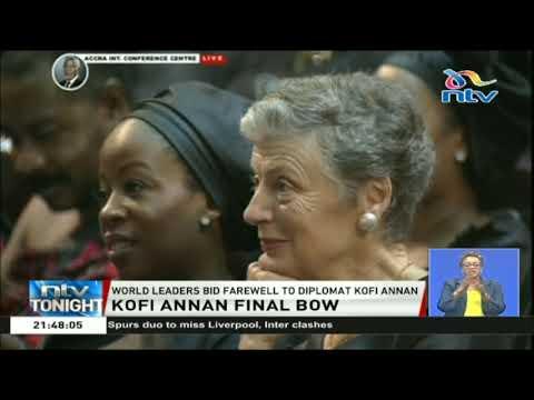 World leaders bid farewell to diplomat Kofi Annan