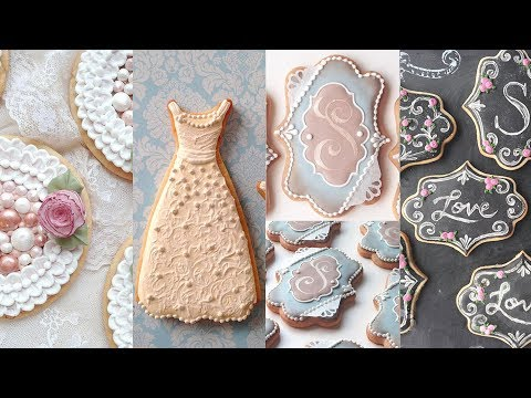 COOKIES FOR WEDDINGS – Cookie Decorating Compilation by SweetAmbs