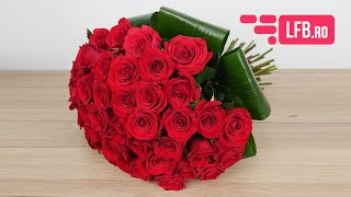 Video Buchet trandafiri rosii de lux