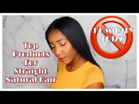 BEST PRODUCTS FOR HUMIDITY PROOF, ANTI FRIZZ STRAIGHT NATURAL HAIR   Simply Subrena