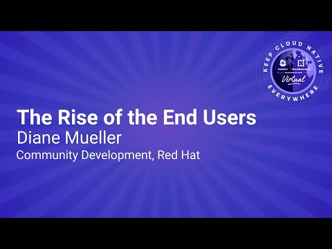 Image thumbnail for talk Sponsored Keynote: The Rise of the End Users