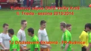 preview picture of video 'TJ Družstevník Sklabiná (B) - FK Bušince  2:1'