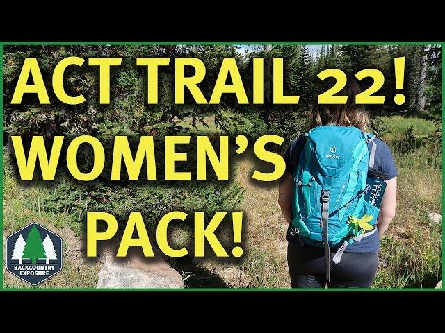 Видео Рюкзак Deuter ACT Trail 22 SL petrol-mint (3217)