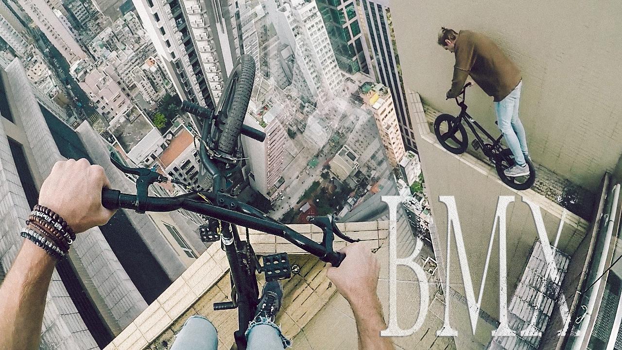Шокирующий заезд руфера по небоскрёбу в Гонконге