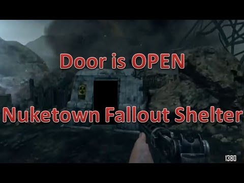 Nuketown Zombies Fallout Shelter Easter Egg!! Door is Open ...