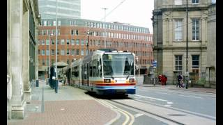 preview picture of video 'Sheffield Supertram City Centre Contrasts'