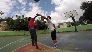 Rigoberto Mendoza 2018 Capitanes LNBP Santeros Basket Callejero con niños